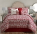 10 Piece Queen Love Print Bed in a Bag w/600TC Cotton Sheet Set