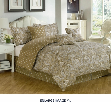 11 Piece Queen Richland Bed in a Bag Set