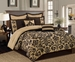 12 Piece Queen San Marco Bed in a Bag w/600TC Cotton Sheet Set