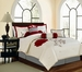 11 Piece Queen Wichita Embroidered Bed in a Bag w/500TC Cotton Sheet Set