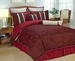 12 Piece Cal King Autumn Blossom Bedding Bed in a Bag Set