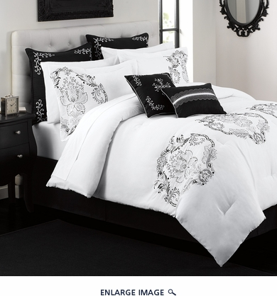 12 Piece Cal King Crescent Avenue Bed in a Bag Set