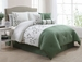 11 Piece Cal King Jade Bed in a Bag w/600TC Cotton Sheet Set