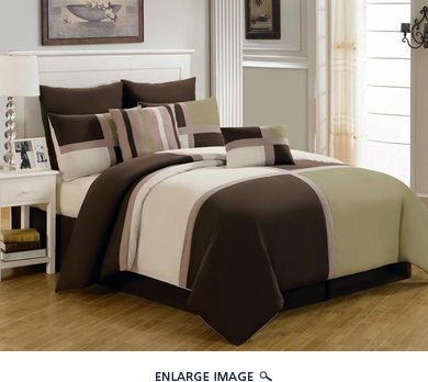 12 Piece Cal King Picasso Sage Bed in a Bag Set