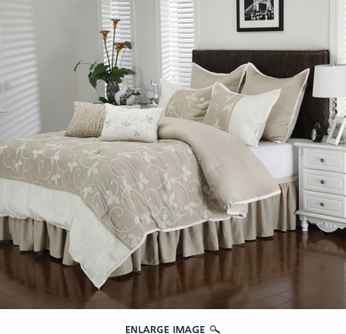 12 Piece Cal King Providence Linen Bed in a Bag Set