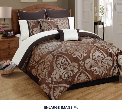 12 Piece King Chateau Marquis Jacquard Bed in a Bag Set