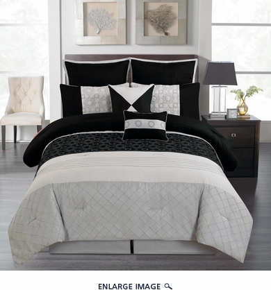 12 Piece King Dicus Black and Gray Bed in a Bag Set