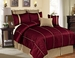 12 Piece King Emoji Burgundy Bed in a Bag w/500TC Cotton Sheet Set