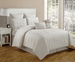 12 Piece King Layla Ivory Bed in a Bag w/600TC Cotton Sheet Set
