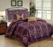 12 Piece King Nicolette Jacquard Bed in a Bag Set