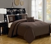 12 Piece Queen Arena Brown Bed in a Bag w/600TC Cotton Sheet Set