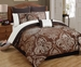 12 Piece Queen Chateau Marquis Jacquard Bed in a Bag Set