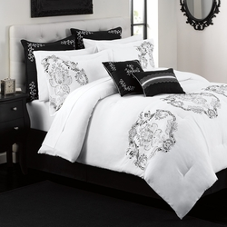 12 Piece Queen Crescent Avenue Bed in a Bag Set