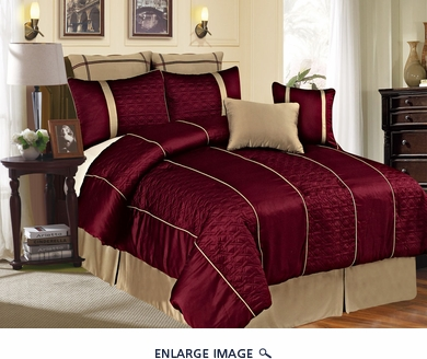 12 Piece Queen Emoji Burgundy Bed in a Bag w/600TC Cotton Sheet Set