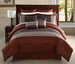 12 Piece Queen Madden Rust and Taupe Bed in a Bag Set