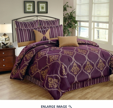 12 Piece Queen Nicolette Jacquard Bed in a Bag Set