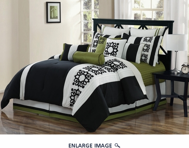 12 Piece Queen Tribeca Comforter Set