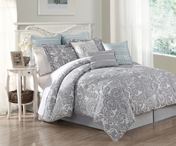13 Piece Cal King Luxe Cotton Bed in a Bag Set