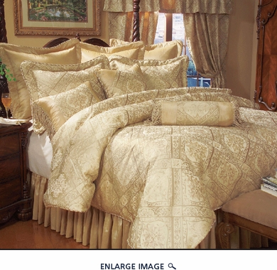 13 Piece Full Gold Imperial Bed in a Bag