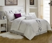 13 Piece King Carolyn Embroidered Bed in a Bag w/600TC Cotton Sheet Set