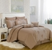 13 Piece King Mayden Taupe Bed in a Bag w/600TC Cotton Sheet Set