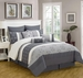 13 Piece King Sangamon Charcoal and Gray Bed in a Bag Set