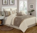 13 Piece Queen Abbie Leaves Embroidered Bed in a Bag w/600TC Cotton Sheet Set
