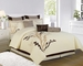 13 Piece Queen Coffeeville Bed in a Bag w/500TC Cotton Sheet Set
