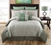 14 Piece King Milena Taupe and Sage Bed in a Bag Set