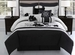 14 Piece King Vienna Black and Gray Bed in a Bag Set