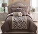 14 Piece Queen Amber Taupe Bed in a Bag Set