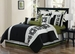16 Piece Cal King Tribeca Bed in a Bag Set