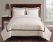 3 Piece King Brighton Embossed Ivory Coverlet Set