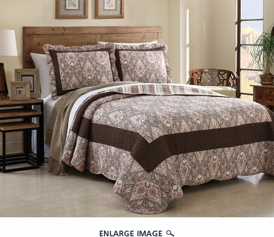 3 Piece King Caroline Quilt Set