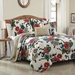 5 Piece King Chantilli Floral Quilt Set