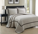 3 Piece King Lexington Ivory Coverlet Set