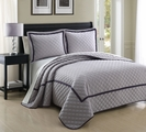 3 Piece King Lexington Plum Coverlet Set