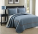 3 Piece King Lexington Spa Blue Coverlet Set