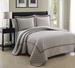 3 Piece King Lexington Taupe Coverlet Set
