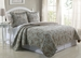 3 Piece King Paisley Taupe/Brown Quilt Set