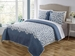 3 Piece King Sundance Blue Quilt Set