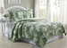 3 Piece King Tropical Leaf Quilt Set