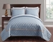 3 Piece Queen Brighton Embossed Spa Blue Coverlet Set