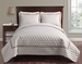 3 Piece Queen Brighton Embossed Taupe Coverlet Set