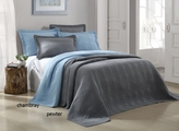 3 Piece Queen Camden Chambray Coverlet Set