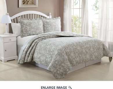 3 Piece Queen Florence Floral Quilt Set