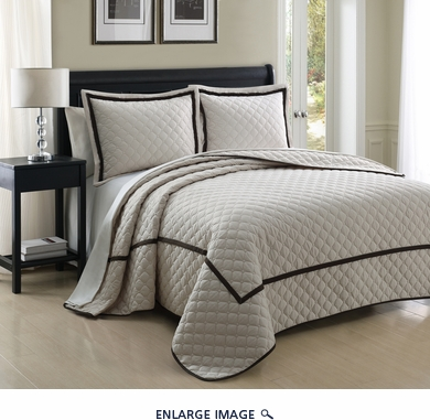 3 Piece Queen Lexington Ivory Coverlet Set