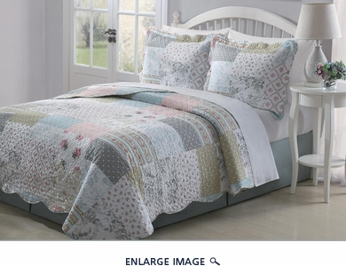 3 Piece Queen Marianne Quilt Set
