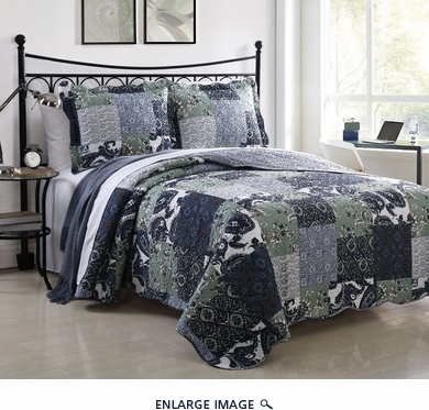 3 Piece Queen Owen Quilt Set