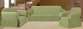 3Pcs Sage Scroll Jacquard Sofa / Loveseat / Chair Slipcover